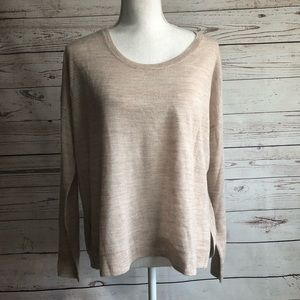 Madewell Merino Wool Blend Thin Hi Lo Sweater sz M